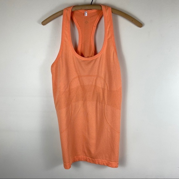 lululemon athletica Tops - Lululemon Swiftly Tech Orange Tank Top Shirt 8